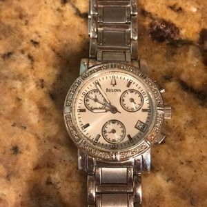 Bulova women's stainless watch mother of pearl